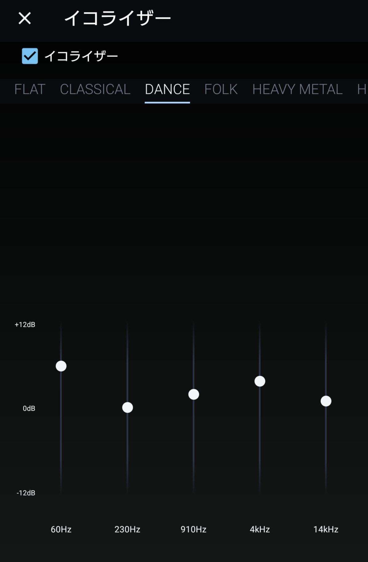 Amazon Musicでイコライザーを設定する