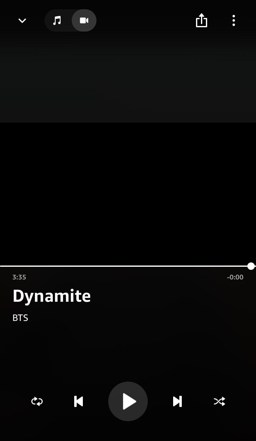 Amazon Musicでミュージックビデオを見る