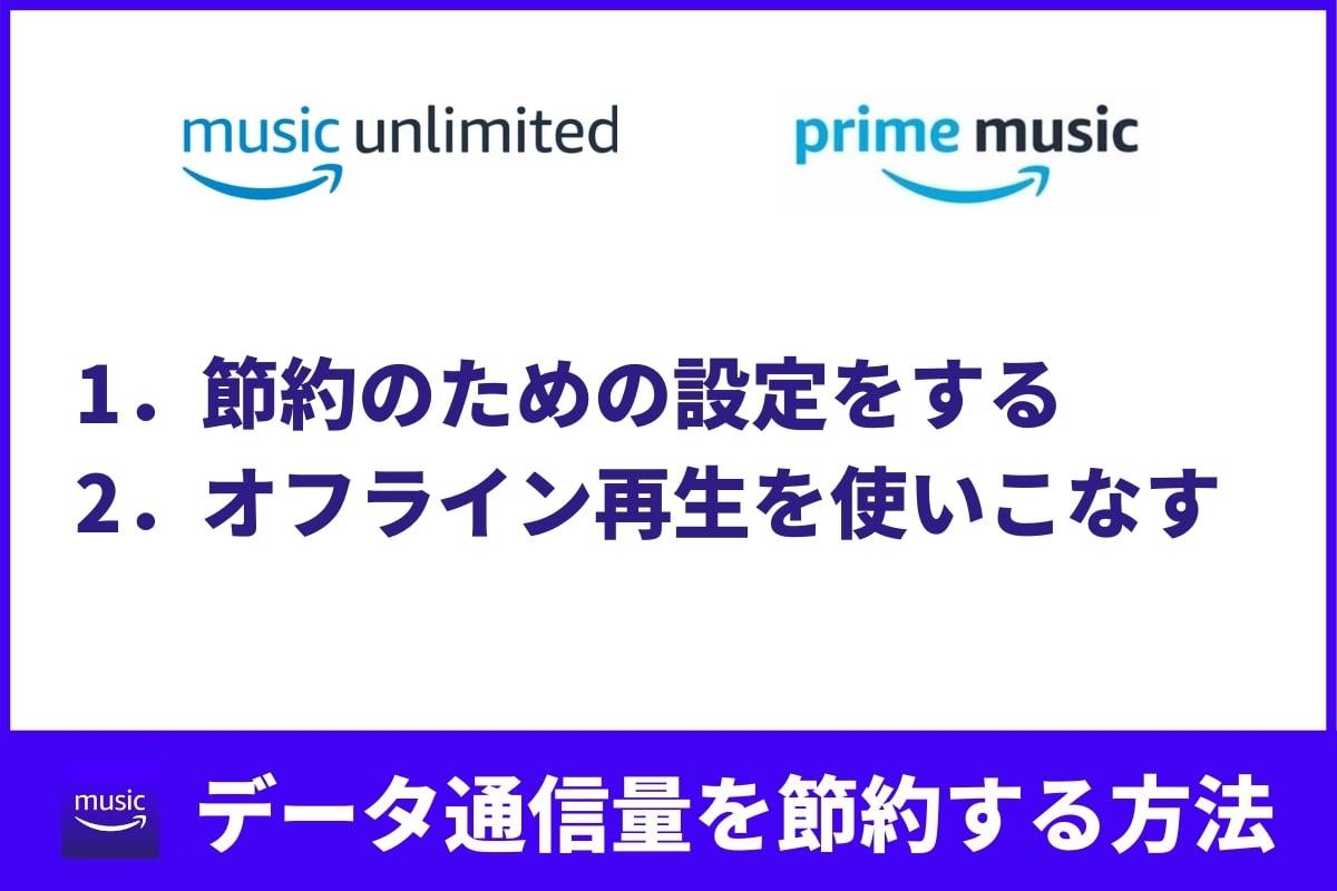 Amazon Musicのデータ通信量を節約する2つの設定&使いおなしたい機能
