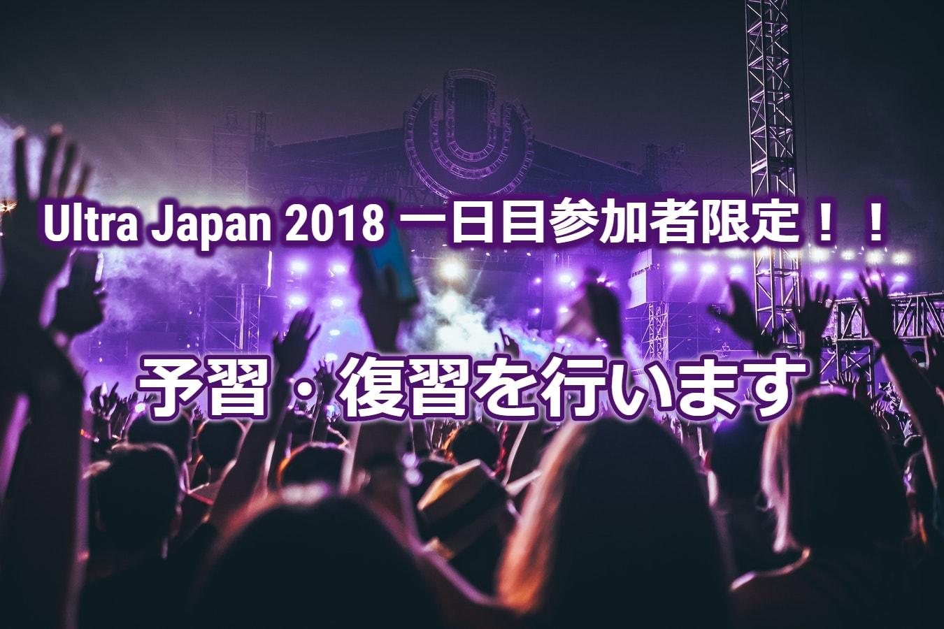 Ultra Japan 2018 1日目の絶対に知っておきたいDJ・曲【予習・復習】