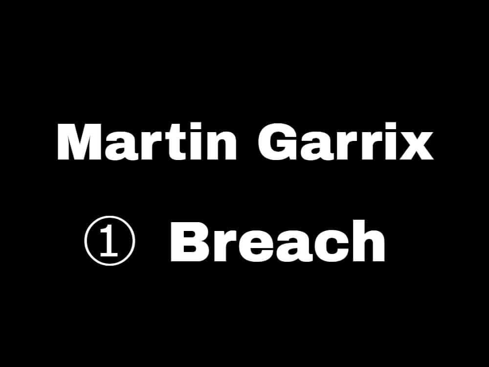 【一曲目:Breach 】マーティンギャリックスが新曲を5日連続リリース!