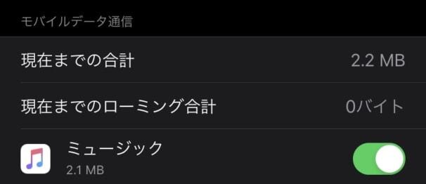 Apple Musicで曲を再生した時に使うデータ通信量(自動音質)