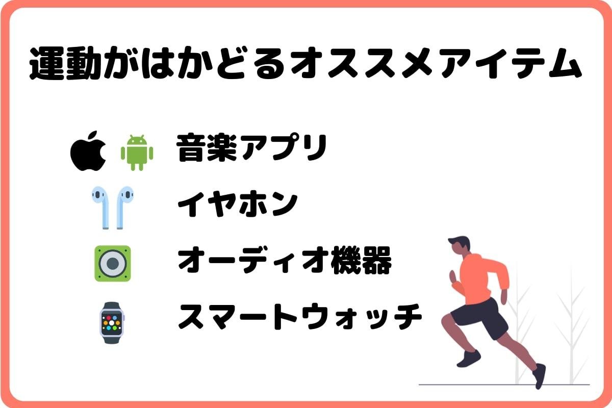 運動がはかどるオススメアイテム!音楽アプリ、イヤホン、オーディオ機器