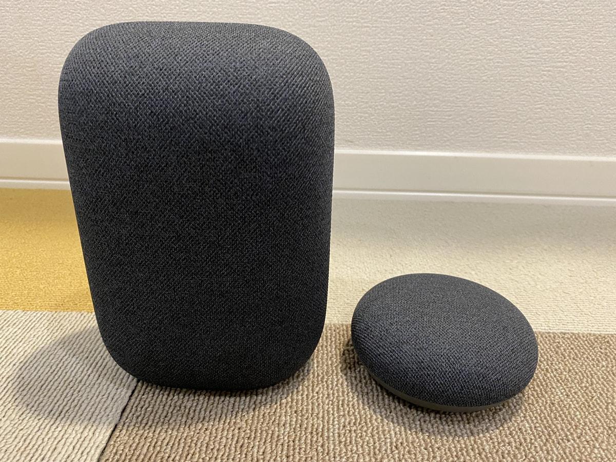 Google Nest AudioとGoogle Nest Miniの違い