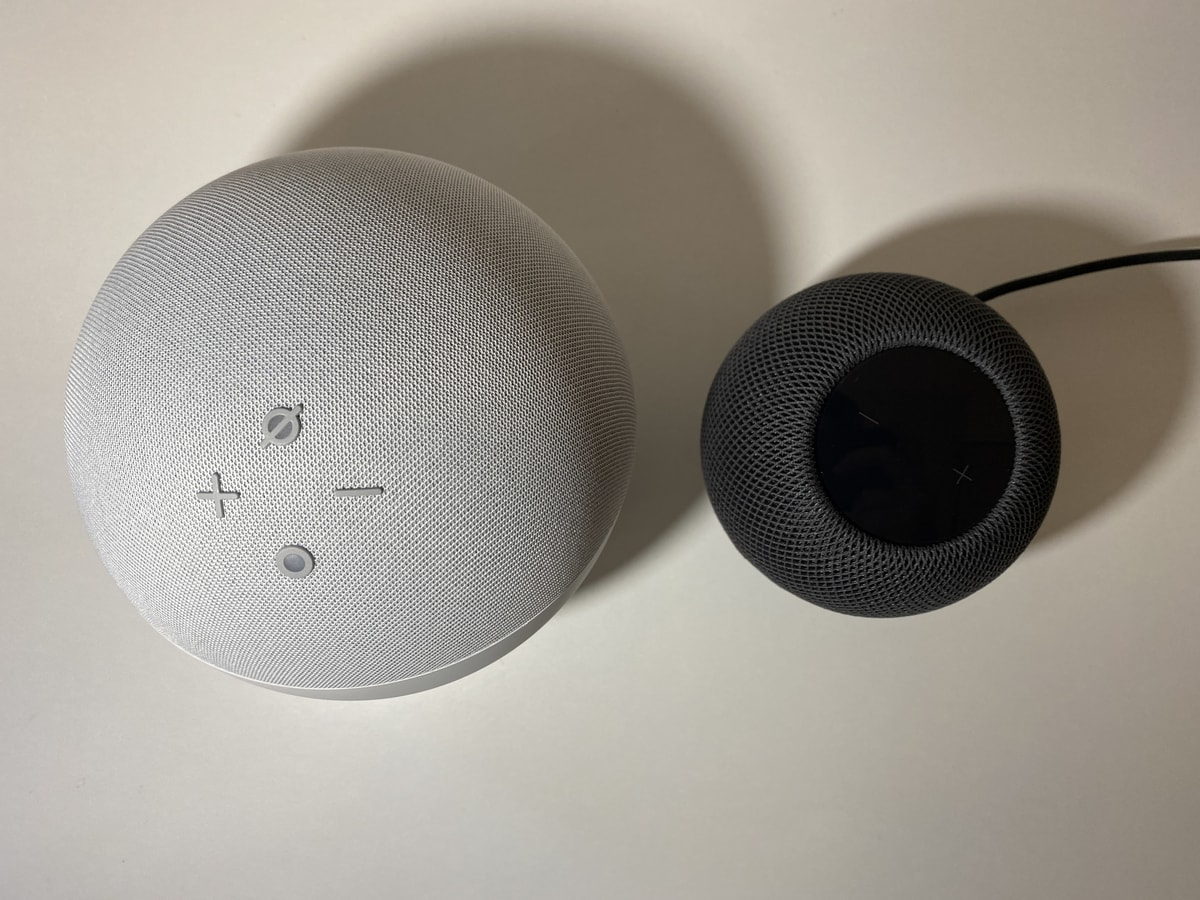 HomePod miniとAmazon Echoを比較