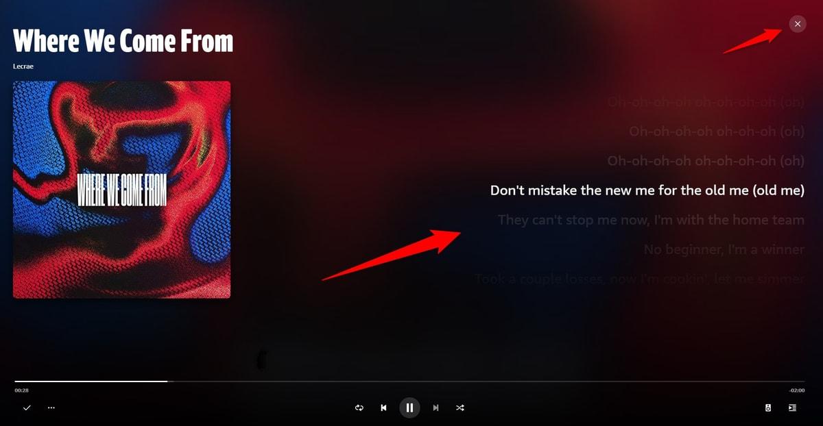 Amazon Musicで歌詞を見る